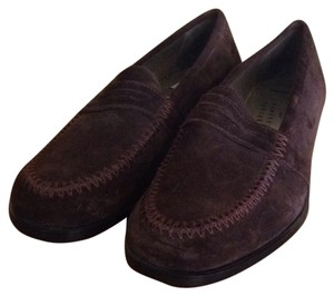 Robert Clergerie Suede Penny Loafers Penny Loafers Womens Brown Flats