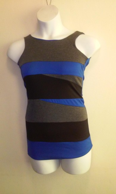 black blue and grey Maxi Dress by unknown