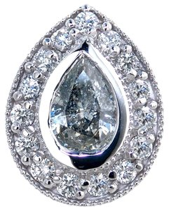 ABC Jewelry Accented pear diamond pendant