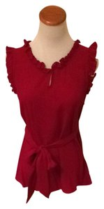 Anthropologie Top Crimson