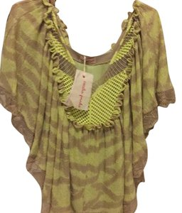 Anthropologie Top Different shades of green..