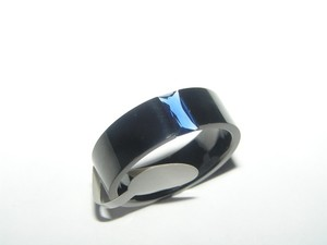 Black/Blue Bogo Freestainless Steel Quartz Free Shipping Men's Wedding Band