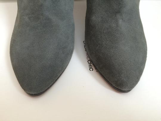 Moschino Grey Suede Boots