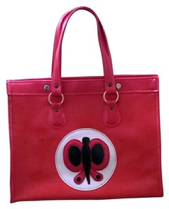 Other Butterfly Red Vintage Tote