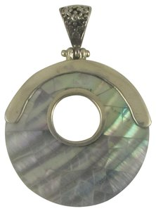 Island Silversmith Island Silversmith Rich Mother of Pearl 925 Sterling Silver Pendant 0501Z *FREE SHIPPING*