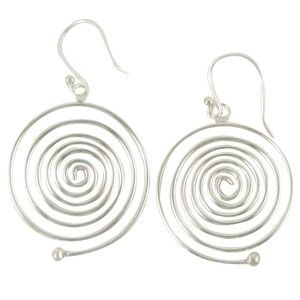 Island Silversmith Island Silversmith 925 Sterling Silver Handmade Spiral Drop Earrings 0501L *FREE SHIPPING*
