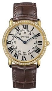 Cartier Cartier Ronde Louis 18K Yellow Gold Diamond Men's Watch WR000451