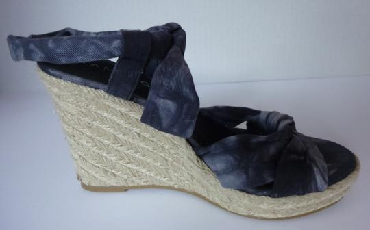 Rampage Wedge Black Tie Dye Sandals