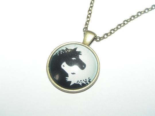 Other Buy 1 Get 2 Free Ying Yang Horse Cabochon Necklace Free Shipping