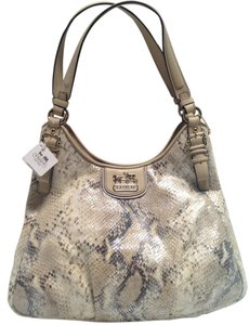 Coach Madison Maggie 18929 Python Hobo Bag