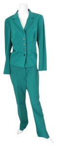 Escada ESCADA Green Classic Business 3 Piece Suit Jacket/Pant/Skirt Size 40