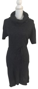 Tulle short dress charcoal Cowl Neck Sweater on Tradesy