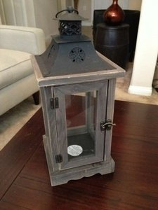 Rustic Wooden Lantern Candle Holders - Set Of 7 Reception Decoration