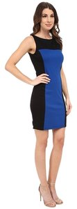 Black/Cobalt Blue Maxi Dress by Tart Aneheim Blue Color-blocking Colorblock Little Black