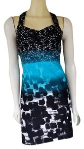 Calvin Klein short dress Turquoise Above Knee Cross Back on Tradesy