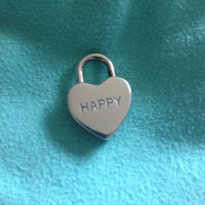 Tiffany & Co. Tiffany & Co Silver HAPPY Heart Padlock lock Pendant Charm