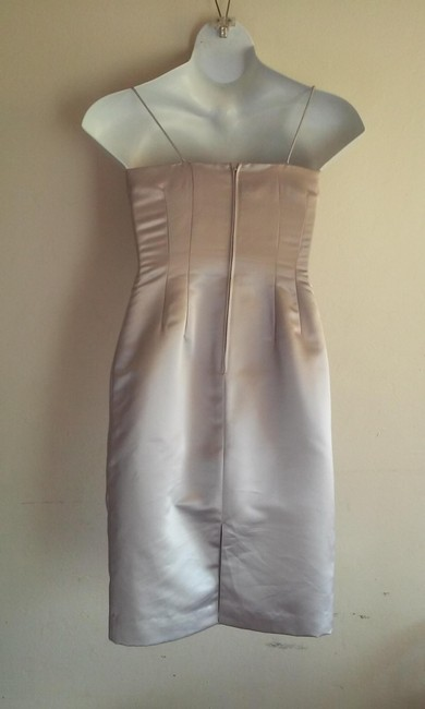 Donna Morgan short dress silver on Tradesy