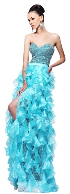 Sherri Hill Strapless Sweetheart Beaded Rhinestones Prom Pageant Dress