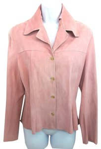JEANS & JACKETS Pink Suede TEA ROSE Leather Jacket