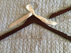Cherry Wood Custom Wedding Hangers