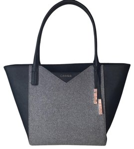 Calvin Klein Tote In Black Grey