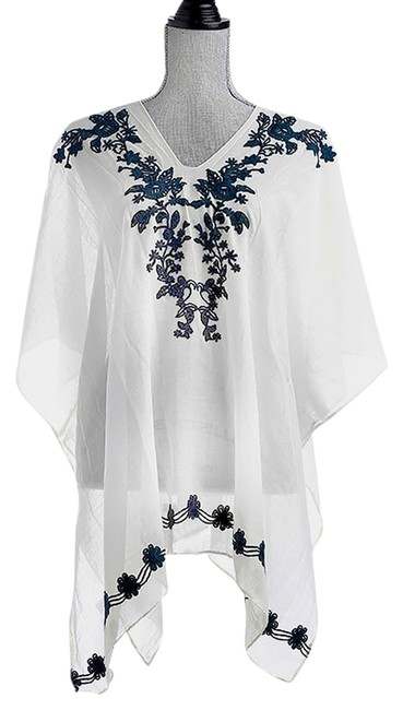 Preload https://img-static.tradesy.com/item/14141485/white-navy-blue-whitenavy-vine-poncho-coverup-beach-pool-dress-shirt-tunic-size-os-one-size-0-1-650-650.jpg