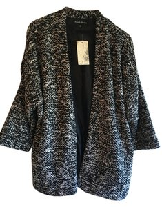 Black Rainn Jacket Casual New Black / White Blazer