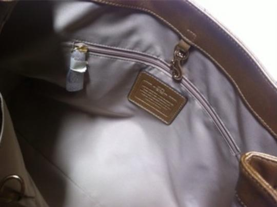 Coach Peyton F31752 Leather Tote in Gold