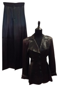 Anna Sui Anna Sui Vintage Satin 70s/80s High Waist Palazzo Pant Jacket Outfit