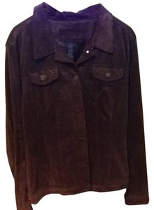 For Joseph Suede Denin Style Brown Womens Jean Jacket
