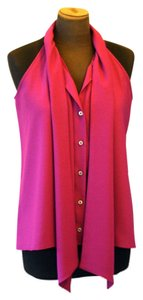 Hunter Bell Scarf Sleeveless magenta Halter Top