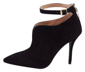 Enzo Angiolini Ankle Strap Booties Suede Black Pumps