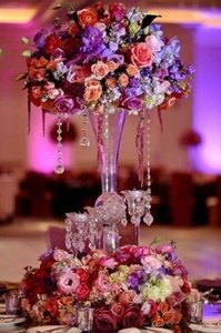 Clear 24 Inch Crystal Balls Reception Decoration