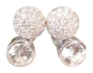 Swarovski double circle crystal earrings