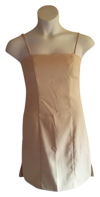 unknown short dress beige on Tradesy