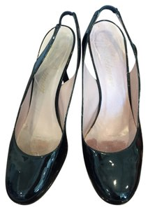 Delman Womens Black Patent Leather Pumps