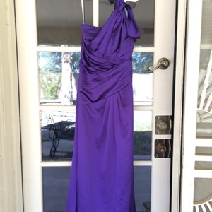 David's Bridal Regency Purple Dress