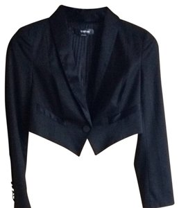 bebe Black Business Wear Cropped Blazer