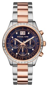 Michael Kors Michael Kors Womens Two-Tone Brinkley Watch MK6205