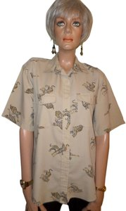 Diane von Furstenberg Button Down Shirt British Tan