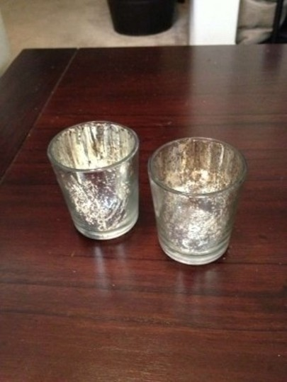 Silver Mercury Glass Votives - 96 Total Reception Decoration