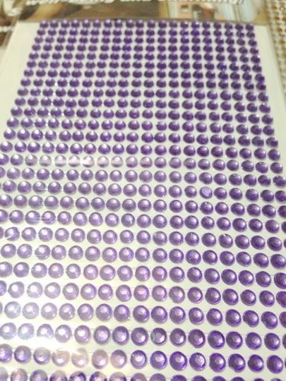 Purple 5 Sheets Bling Bling 2520pcs - 6mm Self Adhesive Rhinestone Crystal Bling Stickers Round Centerpieces Reception Decorations