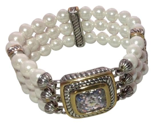 MX Collectin Pearl Cable Stretchy Bracelet - Brand New