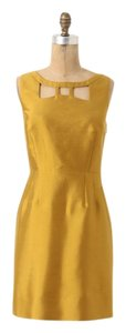 Mauve Silk Party Dryclean Only A-line Cut-out Dress