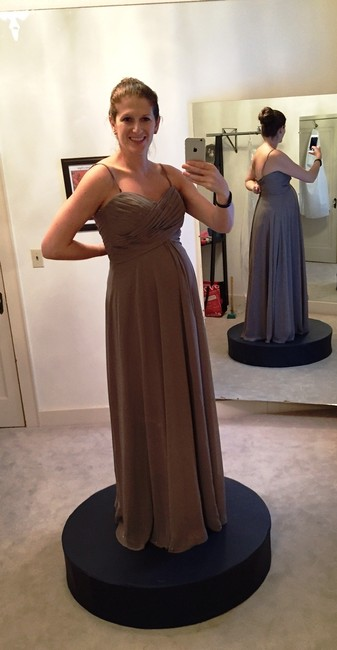 Item - Stone Chiffon 1221 Formal Bridesmaid/Mob Dress Size 12 (L)