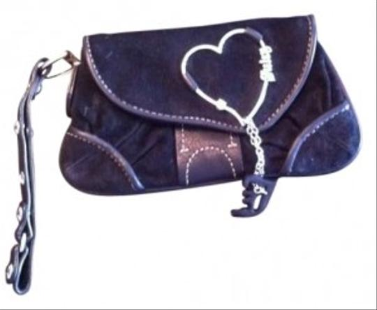 Preload https://item3.tradesy.com/images/juicy-couture-suede-with-silver-fin-wristlet-black-141437-0-0.jpg?width=440&height=440