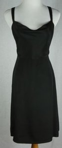 J.Crew short dress Black J Crew Robin Drape Neck on Tradesy