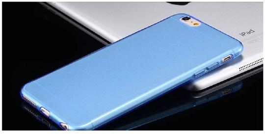 "Other Blue - IPhone 6 Plus 5.5"" TPU Rubber Gel Ultra Thin Case Cover Transparent Glossy 10 Colors Available"