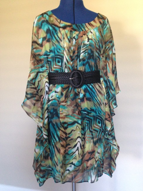 Bisou Bisou Never Worn Nwot Wings Teal Dress