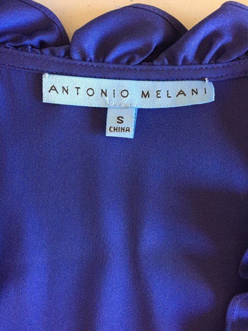 Antonio Melani Sleeveless Silk Top Imperial Blue